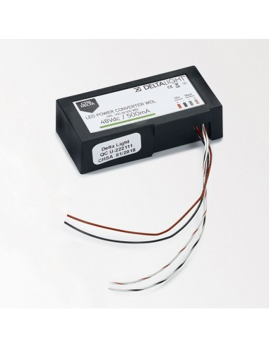 Delta Light LED POWER CONVERTER 48V-DC to 500 mA-DC / 22W WDL