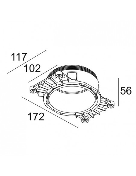 Delta Light MOUNTING KIT R102 TRIMLESS O.F.A.