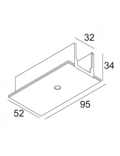 Delta Light TRACK 3F DIM IN RECESSED COVER END SUPPLY