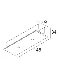 Delta Light TRACK 3F DIM IN RECESSED COVER MIDDLE SUPPLY