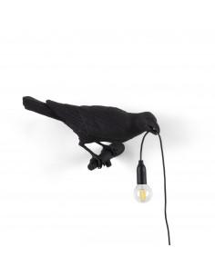 SELETTI Bird lamp Right Indoor Black