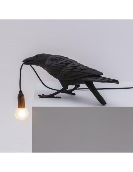 SELETTI Bird lamp Playing Indoor Black