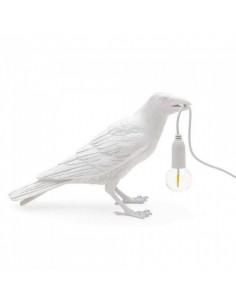 SELETTI Bird lamp Waiting Outdoor White