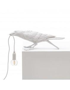 SELETTI Bird lamp Playing Outdoor White