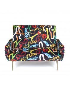 SELETTI Toiletpaper Two Seater Sofa - Snakes