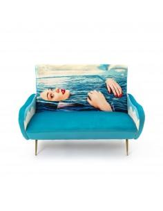 SELETTI Toiletpaper Two Seater Sofa - Sea Girl