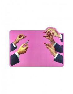 SELETTI Toiletpaper Tablemat Pink Lipstick