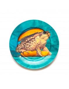 SELETTI Toiletpaper Porcelain Dinner plate - Toad