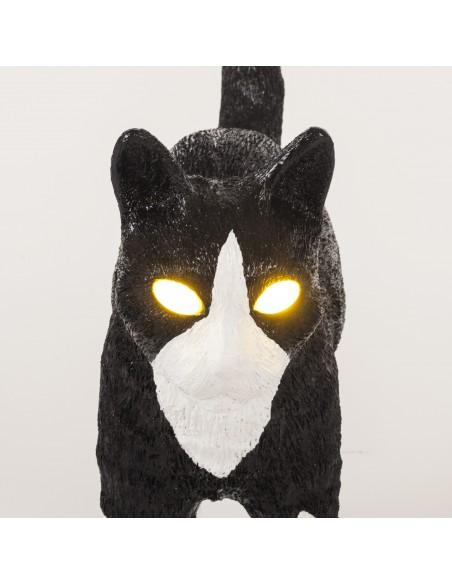 SELETTI The Jobby Cat Lamp Black & White