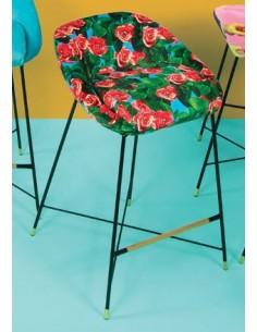 SELETTI Toiletpaper High Stool - Roses