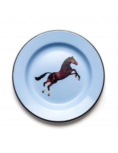 SELETTI Toiletpaper plate metal enameled - horse