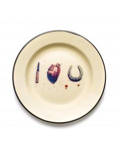 SELETTI Toiletpaper plate metal enameled - i love you