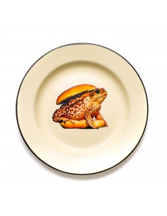 SELETTI Toiletpaper plate metal enameled - toad