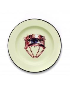 SELETTI Toiletpaper plate metal enameled - eye