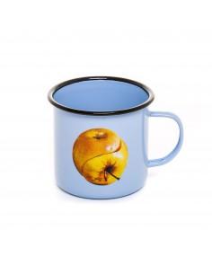 SELETTI Toiletpaper mug metal enameled - apple
