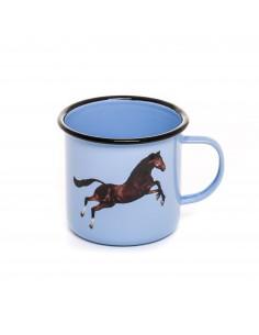 SELETTI Toiletpaper mug metal enameled - horse