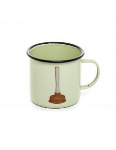 SELETTI Toiletpaper mug metal enameled - plunger