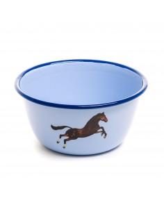 SELETTI Toiletpaper bowl metal enameled - horse