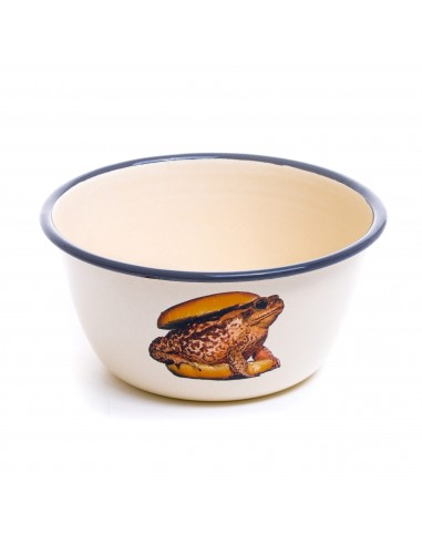 SELETTI Toiletpaper bowl metal enameled - toad