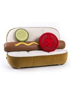 SELETTI Studio Job-Blow Hotdog Sofa with Tomato and Cucumber