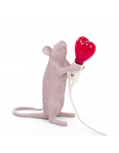 SELETTI Mouse Lamp Standing Love Edition