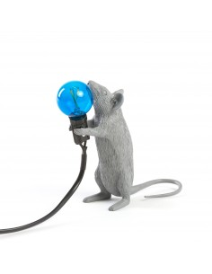 SELETTI Mouse lamp gray - standing