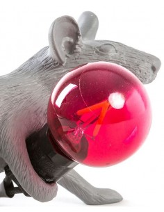 SELETTI Mouse Lamp Replace Bulb Red