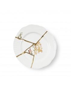SELETTI Kintsugi Porcelain dessert plate n'1