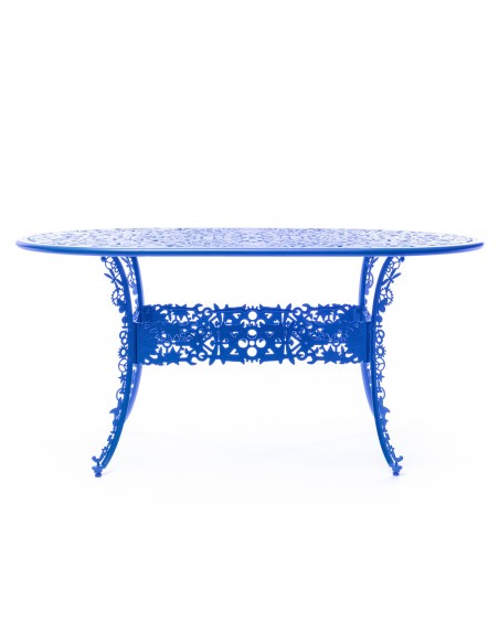 SELETTI Industry Collection Oval Aluminium Table 152x90 cm