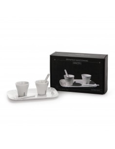 SELETTI coffee set 2 cups + 2 stirrers + 1 tray