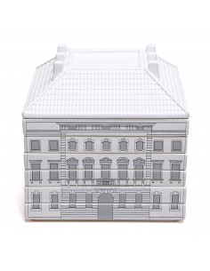 SELETTI flat plate: 6 plates and 1 serving bowl in ceramic palace-signoria