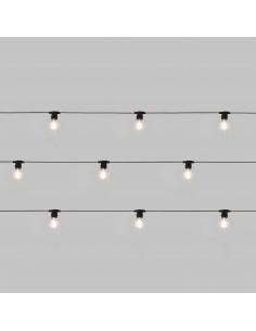 SELETTI Bella Vista Clear Set of 10 Lights - Black