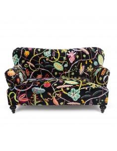 SELETTI Botanical Diva Two Seater Sofa - Black