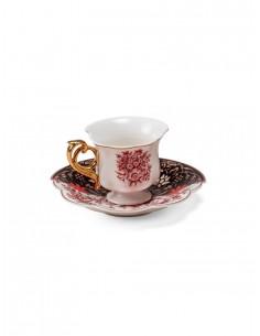 SELETTI Hybrid Porcelain coffee cup + plate  - Sagala