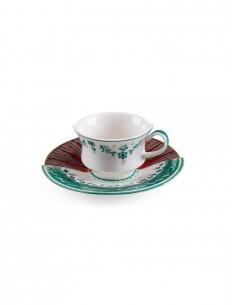SELETTI Hybrid Porcelain coffee cup + plate  - Chuchuito